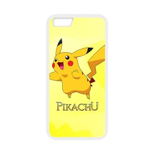 "iPhone 6S (4,7 ""inch) Coque de protection en TPU pour, Customize Pokemon Pikachu Case for iPhone 6 (4,7"" inch), [Pokemon Pikachu] étanche Coque de protection arrière en silicone Coque p"