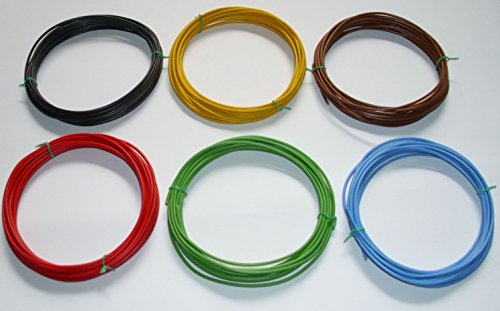 6 x 5m (€ 0,54/m) 1,5mm² Kfz Kabel Set Litze Flry (w. Längen Siehe Beschreibung)