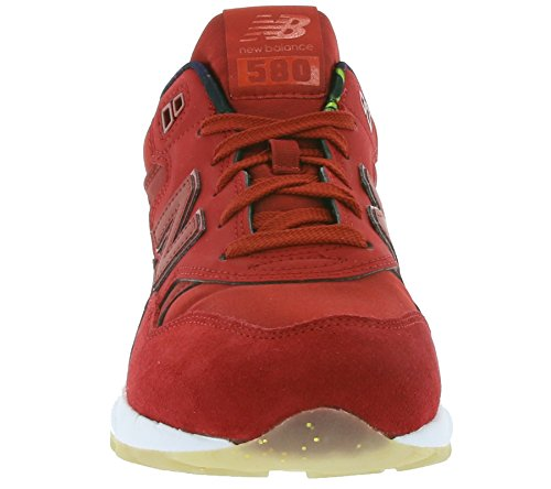 SNEAKER NB 580 IN PELLE E MESH Rouge