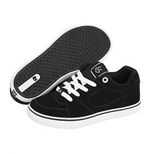 Es Skateboard-schuhe (ES Skateboard Schuhe Square One Youth Black/White, Schuhgrösse:35)
