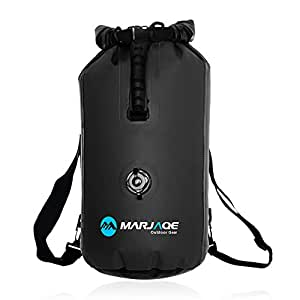 WildGrow Roll Top Closure Dry Bag Sack 30L with Ajustable Double Shoulder Straps, Hand Lifting Handle, Inflation Valve for Boating Kayaking Fishing Canoeing Rafting Swimming