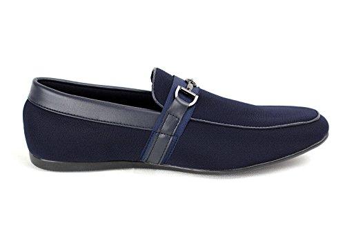 Mens Slipper Smart Driving Mocassino Scarpe Basse Firmate New Fashion Blu