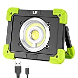LE Lighting EVER Projecteur LED, 1700lm 20W Portable Rechargeable 6000mAh, 3 Modes,...