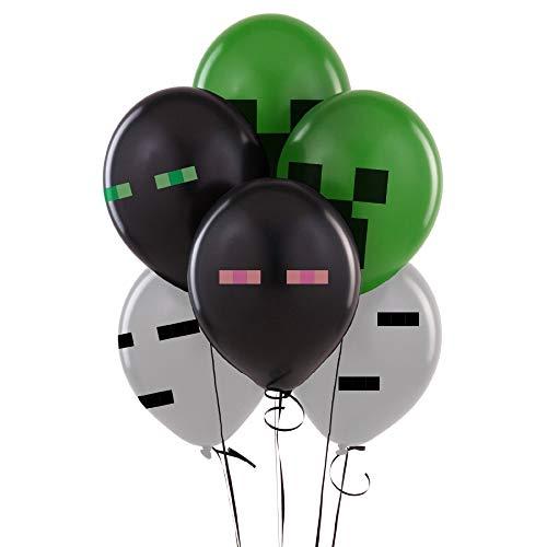 (Uniqus Minecraft Latex-Luftballons (Enderman, Gut, Creeper) Minecraft Geburtstag Party Ballon Dekoration Spielzeug 4 Verschiedene Partyzubehör Geschenk)