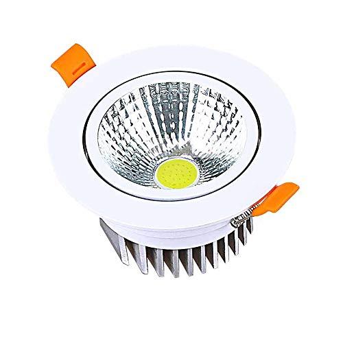 Modenny Aluminium-LED-Deckeneinbaustrahler-Scheinwerfer-runder Kabinett-Scheinwerfer Downlight weiße/warme weiße Schmuck-Anzeige Downlamp Ultra helle Platten-helle Dekoration Büro-Mall-Korridor-Hote -