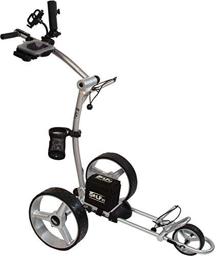 Elektro Golf Trolley PGE 3.1, 12V/33Ah, USB, GPS Halter, viel Zubehör, Silber -