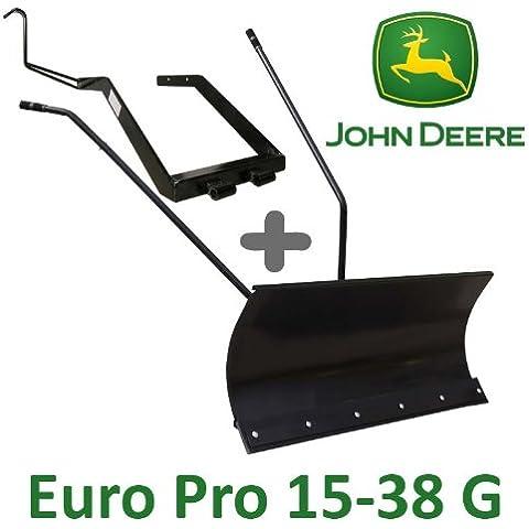 Lama a neve 118cm Nera + Adattatore per John Deere Euro Pro 15–38G