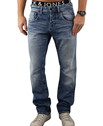 JACK & JONES Herren Jeans jjiBOXY Hose Loose Fit Relaxed Blue Denim Blau (Blue Denim Fit:LOOSE jjiBOXY 947)