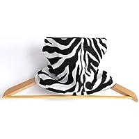 Snood zèbre tour de cou enfant mixte fausse fourrure d'animaux et polaire réversible noir et blanc zebra rayures