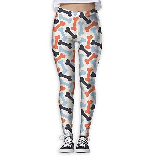 Jugend 6-pocket Pant (Deglogse Yogahosen, Trainingsgamaschen,Pattern with Bone (1) High Waist Out Pocket Yoga Pants Tummy Control Workout Running Stretch Yoga Leggings)