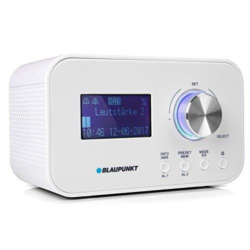 BLAUPUNKT CLRD 30 Radiowecker | Digital Radio DAB+ | Uhrenradio mit USB Ladefunktion | zwei Weckzeiten | Snooze Funktion und Sleeptimer |6 Watt RMS |RDS (Senderanzeige) | weiß