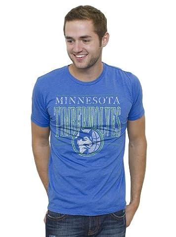 NBA Minnesota Timberwolves Men's Vintage Solid Short Sleeve Crew T-Shirt, Liberty, Small