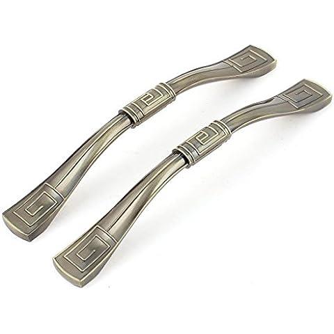 sourcingmap® 128mm Buco Centro Sbalzato Maniglie Per Porta Manopole Tonalità Bronzo 2 Pz