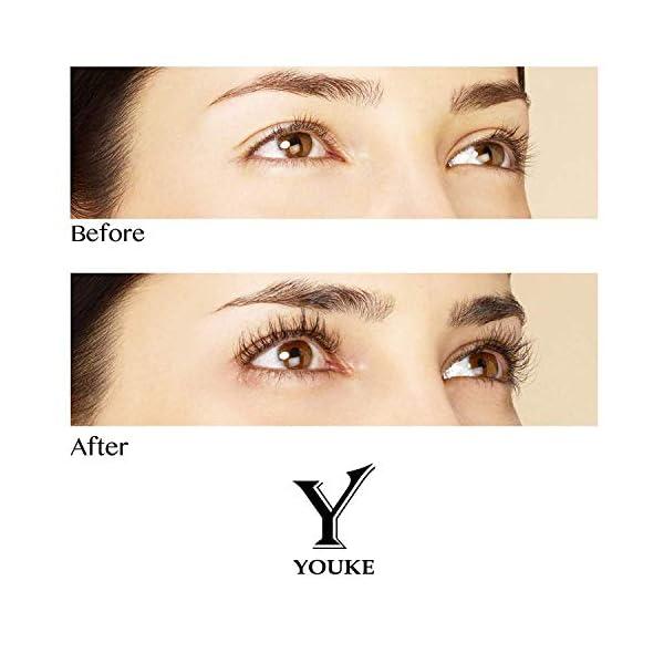 YOUKE Sérum para Crecimiento de pestañas [3 ml] – Sérum para Mejorar el Crecimiento de pestañas para Ojos más Gruesos y…