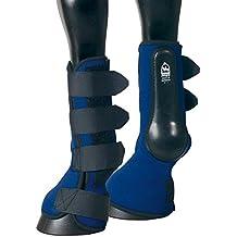 PFIFF Combi Boot - Protectores con campana para caballo negro negro Talla:V1 (Vollblut)