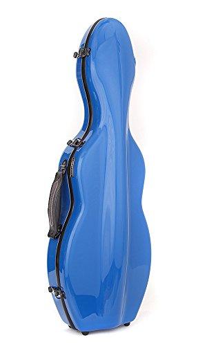 Custodia per violino Fiberglass Tonareli 4/4 VNF1003 AZZURRO + cartella portaspartiti - VENDITORE AUTORIZZATO