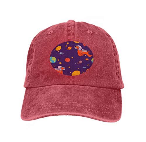 Classic 100% Cotton Hat Caps Unisex Fashion Baseball Cap Adjustable Hip Hop Hat Dog Astronaut Space Pattern pet Spaceman Puppy Cosmonaut Costume Universe textire Dog Astronaut Space Pattern