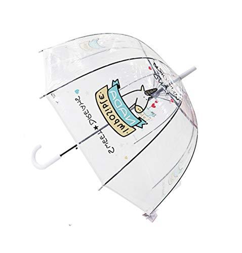 0005b0eac294 Laser Umbrella Unicorn Kids Umbrellas Rainbow Film Colour Changing Umbrella  Children Transparent Umbrellas A