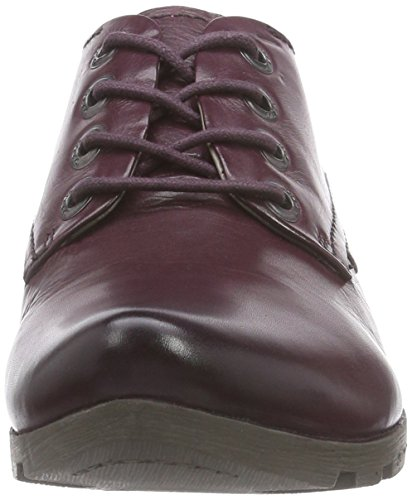 Marc Shoes Zarah Ii, Derbies à lacets femme Rouge - Rot (aubergine 690)