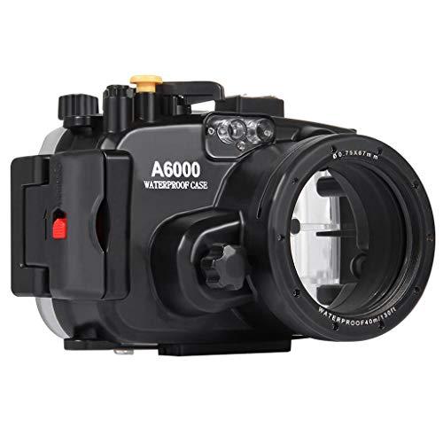 Unterwassergehäuse für Sony Alpha 6000 Systemkamera, Colorful wasserdichte Schutz Gehäuse Tauchen Case Schutzhülle 130ft/40m für Sony Alpha 6000 Systemkamera -
