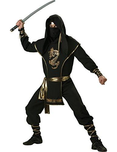üm für Herren - Deluxe M (Adult Deluxe Ninja Kostüme)