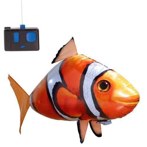 Preisvergleich Produktbild RC R/C ferngesteuerter fliegender Clownfisch Nemo - Flying Fish Riesenfisch, Mit Helium gefüllt schwebt er in der Luft, Neu