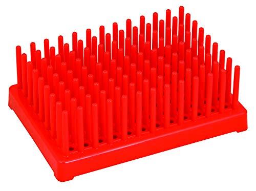 Eisco Labs Wäscheständer, Kunststoff, für 96 Reagenzgläser, 13 mm, Rot