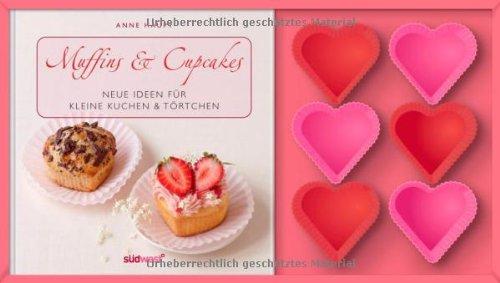 Preisvergleich Produktbild Muffins & Cupcakes-Set: Neue Ideen für kleine Kuchen & Törtchen. Buch mit Silikonförmchen