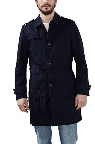 ESPRIT Herren Mantel 027EE2G031, Blau (Navy 400), Large (Herstellergröße: 50)