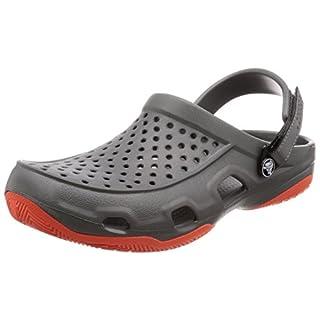 crocs Herren Swiftwater Deck Clog Men, Grau (Slate Grey/Tangerine), 41/42 EU