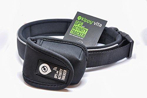 Premium Hundehalsband für Mittelgroße und Große Rassen | Verstellbar, Wasserfest & Waschbar für Langanhaltenden Komfort | Beinhaltet eine Tasche für das Kippy Vita S Hunde GPS | Verfügbar in mehreren Größen