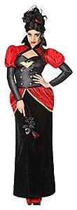 Atosa 26518 - traje de vampiro para las mujeres, tamaño 42/44, rojo/negro