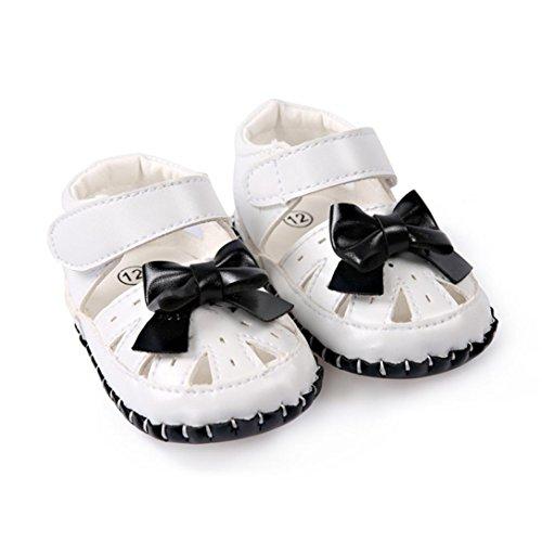 Pour 0-18 mois Bébé,Transer ® Joli bébé fille en cuir sandales anti-dérapant doux unique Sneaker Noir