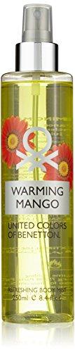 United Colors of Benetton Warming Mango 250 ml Refreshing Body Mist Körperspray für Sie, 1er Pack (1 x 250 ml) - Benetton Spray Duft