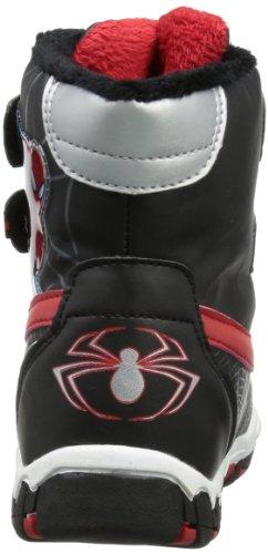 Spiderman  boys kids snowboot booties, Bottes de ski garçon Multicolore - Mehrfarbig (BLACK/SILVER/BLACK/RED)