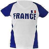 SportTeam Manga Corta Camiseta de FR, Unisex, Kurzarm T-Shirt FR, Blanco/Azul, Universal