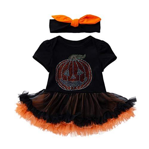 Beaums 2ST Neugeborenes Baby-Spielanzug-Kleid mit Stirnband Halloween Foto-Stütze