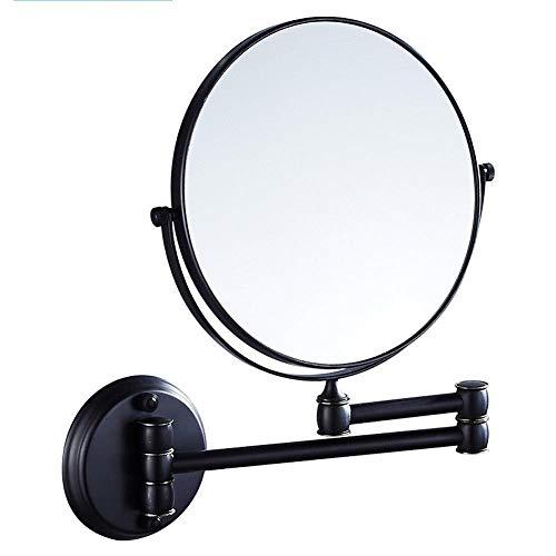 ZAKELL Ausziehbarer kupferner Spiegel 8inch an der Wand befestigter doppelseitiger schwenkbarer Badezimmer-Klappspiegel (Size : A)