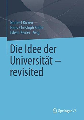 Die Idee der Universität - revisited