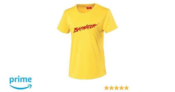 LICENSED BAYWATCH ® YELLOW RED CONTRAST HOODIE