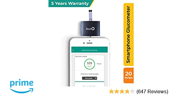 Beato Smartphone Glucometer with 20 strips