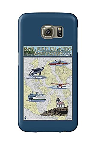 San Juan Islands, Washington - Nautical Chart (Galaxy S6 Cell Phone Case, Slim Barely There)