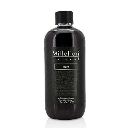 Millefiori 7renr, ricarica profumo nero da 500ml, per profumatore per ambienti natural, in plastica, colore nero, 12,5x 6,5x 17,7cm