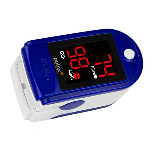 PULOX Po/Pulse Oximeter with LED Display, incl  hardcase, Duracell Bat   Case, Nylon Pouch and Lanyard