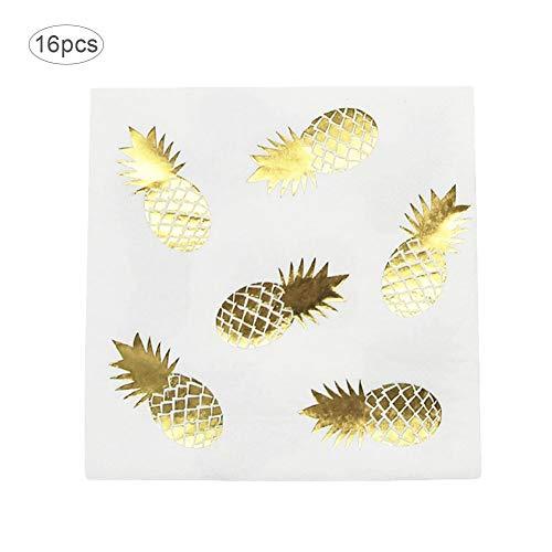 Bronzing Ananas Teller Einweggeschirr Pappbecher Tablett Handtuch Besteck für Hochzeit Party Supplies