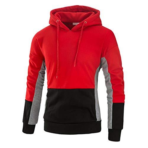 Cappotto uomo inverno, uomo lana invernale maglia colorblock da uomo cappotto, uomo cappotto giacca a manica lunga cotone giacca cappuccio giacca qinsling
