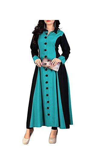Pramukh Fashion Women's Cotton kurtis (ky kurtis)_Free Size semi stich material)