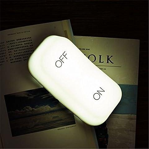 Lampe de bureau ON-OFF, umitrend Lampe de table portable rechargeable Lampe de pépinière de charge USB avec capteur de gravité Lampe de chevet LED pour enfants Enfants blanc