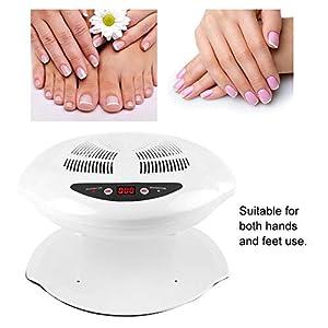 Lámpara de uñas, 400W LED UV Hot & Cold Air Secador de Uñas para Manicura, curado, herramienta profesional de manicura con ventilador de uñas y sensor de aire(blanco)