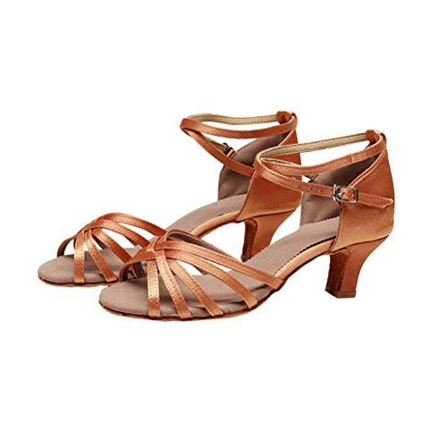 LIOOBO Frauen Latin Dance Schuhe für Damen Mädchen Tango Schuhe Ballroom Dance Schuhe (5cm, 38)